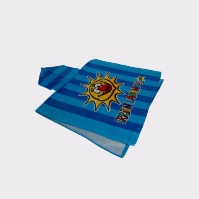 Albornoz toalla de algodón Irrien Lagunak Pirrotx eta Porrotx. Albornoz de Pupu eta Lore. Para niños de 0 a 3 años.