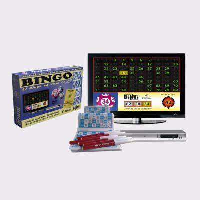 ¡Una manera fácil, real y divertida de disfrutar del Bingo DVD en casa!  El DVD ofrece multitud de partidas en orden aleatorio y 8 locutores a elegir. Podrás elegir entre 5 idiomas, y también escuchar a Javier Valero imitando famosos.  Además del DVD, contiene 320 cartones y 6 rotuladores.