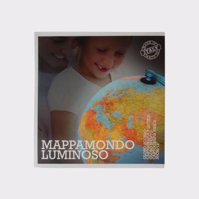 """""""Munduko bola euskaraz 30zm"""" es un globo terráqueo físico y político de 30 cm dediámetro. Bola luminosa. Fabricado en plástico de gran resistencia."""