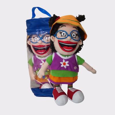 Marimotots la amiga de Pirritx y Porrotx. Muñeca de trapo Marimotost en su bolsita. Muñeca de 35cm.