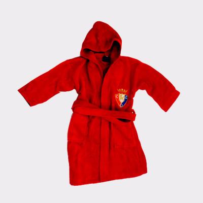 Albornoz del Osasuna ideal para regalar a los aficionados de este equipo de futbol.  100%  algodón aterciopelado.