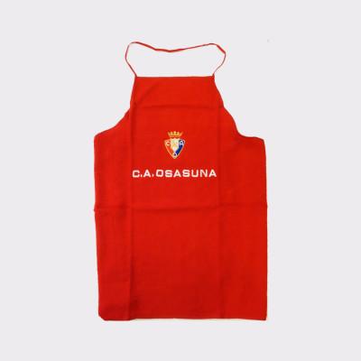 Delantal de cocina del Osasuna.  Ideal para regalar a los aficionados de este equipo de futbol.  100% algodón.  Producto oficial.